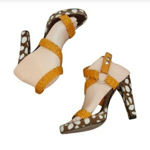 Brian Atwood - Braided & Pony Hair Ankle S…